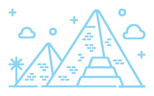 Illustration of a pyramid scene