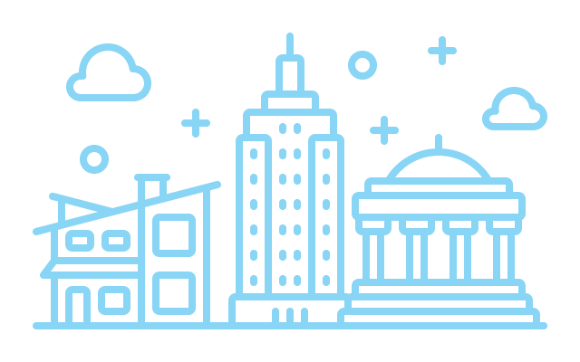 Icons of different building types