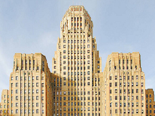 Monolithic Art Deco building