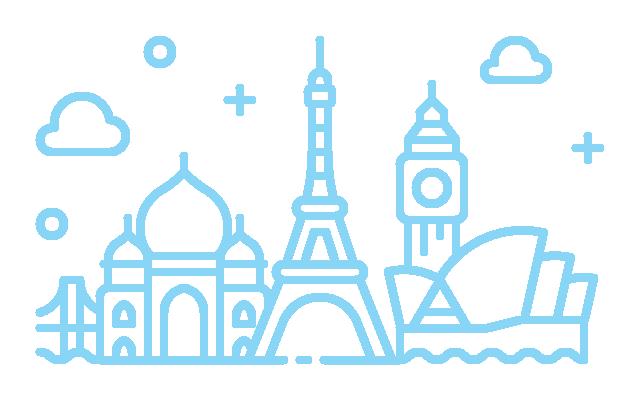 Illustration of a city skyline