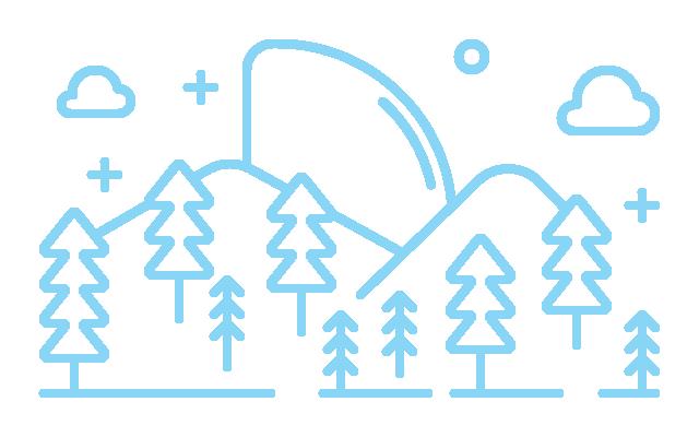 Illustration of a mountain scene