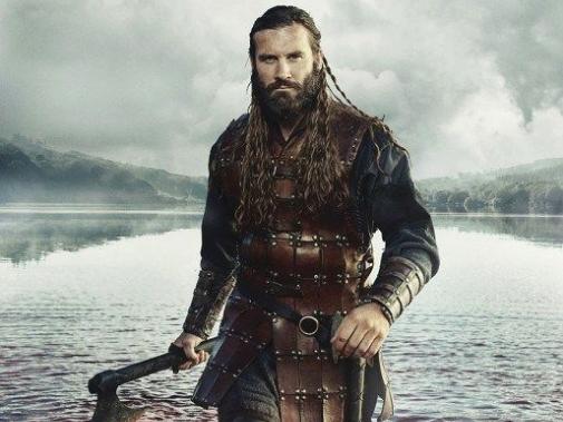 A viking man with an axe
