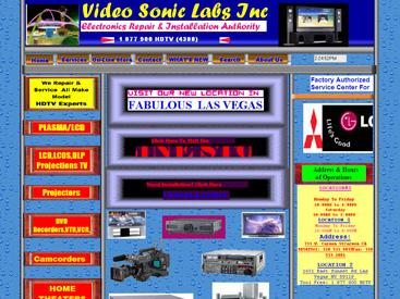 An screenshot of a bad website